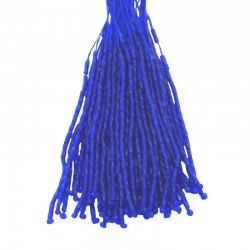 TWISTED BEAD DROPPERS 7MM COBALT
