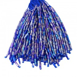TWISTED BEAD DROPPERS 7MM SAPPHIRE AB