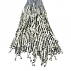 TWISTED BEAD DROPPERS 7MM SILVER LABRADOR