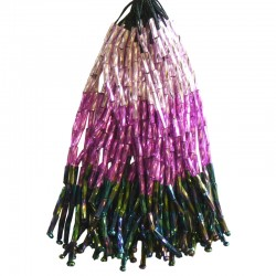 TWISTED BEAD DROPPERS SHADED LILAC/VOLCANO