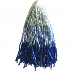 TWISTED BEAD DROPPERS SHADED SILVER/COBALT