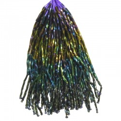 TWISTED BEAD DROPPERS SHADED VOLCANO/JET HEMATITE