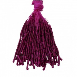 TWISTED BEAD DROPPERS 7MM FUCHSIA
