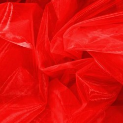 ORGANZA EX FLUORESCENT RED