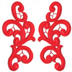 EMMA MOTIF CC FLUORESCENT RED