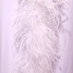 OSTRICH BOA 6 PLY WHITE