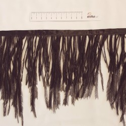 FRINGE OSTRICH FEATHERS 1PLY EX BLACK