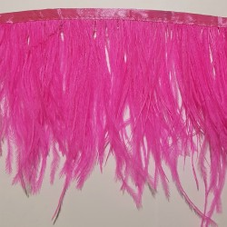 OSTRICH FEATHERS FRINGES 2PLY CERISE