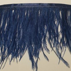 OSTRICH FEATHERS FRINGES 2PLY SAPPHIRE INK