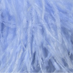 OSTRICH FEATHERS FRINGES 3PLY CC BLUEBELL
