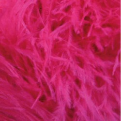 OSTRICH FEATHERS FRINGES 3PLY CC ELECTRIC PINK