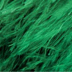 OSTRICH FEATHERS FRINGES 3PLY CC EMERALD