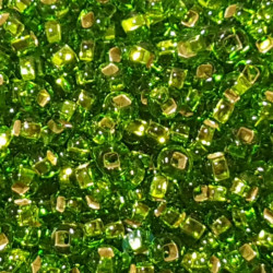 GLASS BEADS 2MM LIGHT GREEN