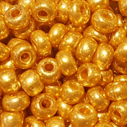 GLASS BEADS 3MM GOLDEN PEARL