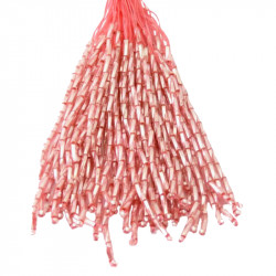 TWISTED BEAD DROPPERS 7MM LIGHT ROSE