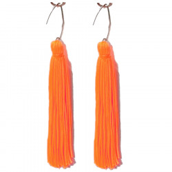FRINGE EARRINGS TACTEL ORANGE