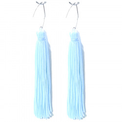 FRINGE EARRINGS TACTEL WHITE