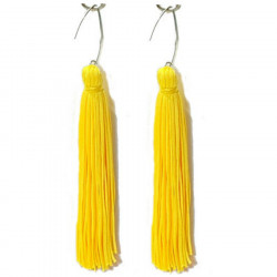 FRINGE EARRINGS TACTEL SAFFRON