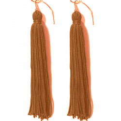 FRINGE EARRINGS TACTEL CAPPUCINO