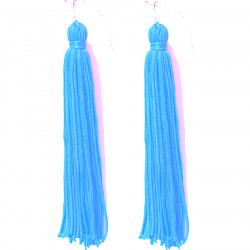 FRINGE EARRINGS TACTEL BLUE PARADISE
