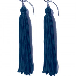 FRINGE EARRINGS TACTEL  MIDNIGHTS SKY