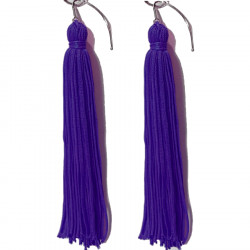 FRINGE EARRINGS TACTEL   PURPLE RAIN