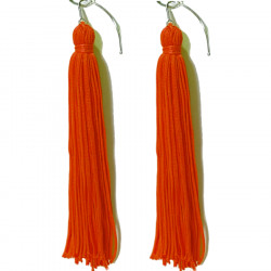 FRINGE EARRINGS TACTEL RED