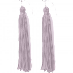FRINGE EARRINGS TACTEL SILVER STONE