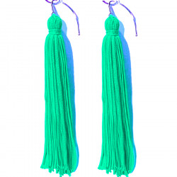 FRINGE EARRINGS TACTEL SPEARMINT