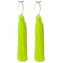 FRINGE EARRINGS TACTEL TROPIC LIME