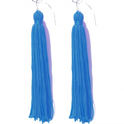 FRINGE EARRINGS TACTEL TURQUOISE