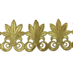 FLEUR DE LIS RIBBON GOLD