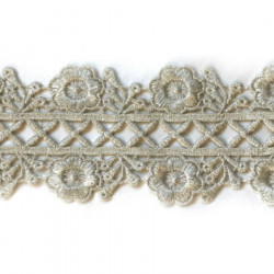 CAMILLE METALLIC RIBBON ANTIQUE SILVER