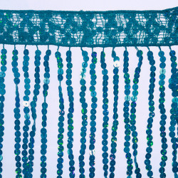 SEQUIN FRINGES TURQUOISE
