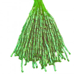 TWISTED BEAD DROPPERS 7MM ABSINTHE