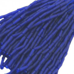 TWISTED BEAD DROPPERS 7MM COBALT MAT