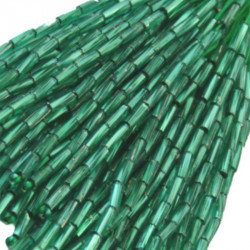 TWISTED BEAD DROPPERS 7MM EMERALD