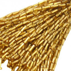 TWISTED BEAD DROPPERS 7MM GOLD 3