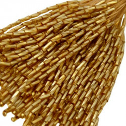 TWISTED BEAD DROPPERS 7MM GOLDEN SHADOW