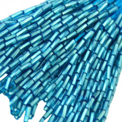TWISTED BEAD DROPPERS 7MM TURQUOISE
