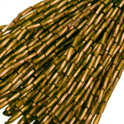 TWISTED BEAD DROPPERS 7MM AURUM 3
