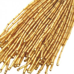 STRAIGHT BEAD DROPPERS 7MM GOLDEN SHADOW
