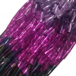TWISTED BEAD DROPPERS SHADED LILAC/FUCHSIA/VOLCANO