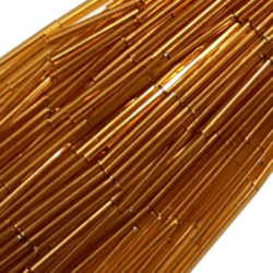 STRAIGHT BEAD DROPPERS 25MM GOLD