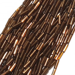 STRAIGHT BEAD DROPPERS 7MM CHOCOLATE