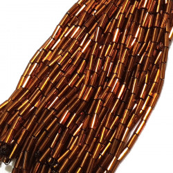STRAIGHT BEAD DROPPERS 7MM COFFEE