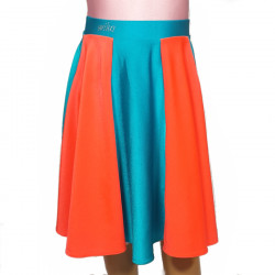 DANCE SKIRT RED ELECTRIC PINK CERISE