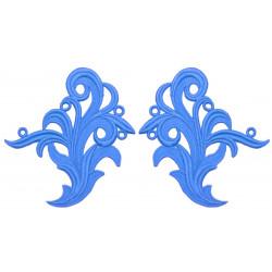 TAMARA GUIPURE MOTIF BLUEBELL