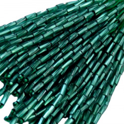 TWISTED BEAD DROPPERS 7MM FOREST GREEN