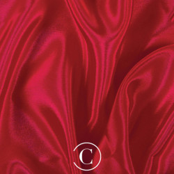 SATIN CHIFFON CC RED